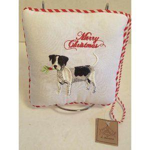 D. Stevens Pillow Christmas embroidered